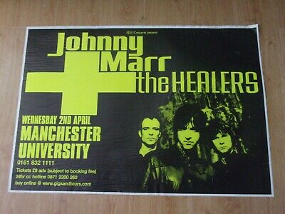 Johnny Marr & The Healers  Original Tour Poster From Manchester University 2002  • 15£