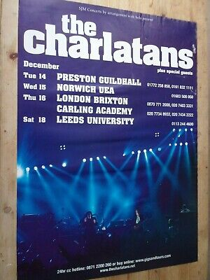 The Charlatans Original Tour Poster From Manchester University 2004.  • 15£