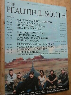 The Beautiful South Original Tour Poster From Manchester University 2005.  • 15£