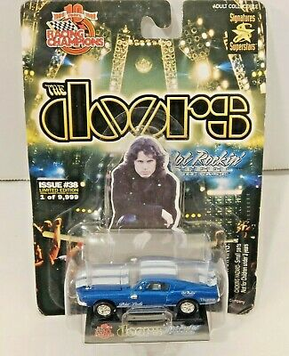1999 The Doors 68 Blue Lady Ford Mustang Hot Rockin' Die Cast Racing Champions • 30.92£
