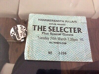 The Selector Ticket Stub With Badge • 10£