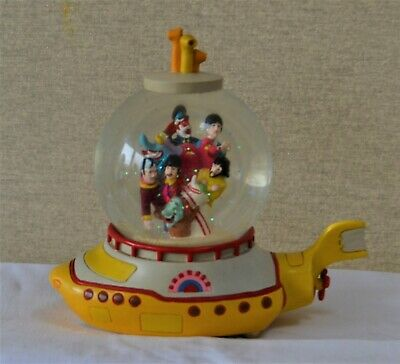 Fab  Beatles Yellow Submarine  Large Collectors Musical Snow Globe. Exc Cond • 18.56£