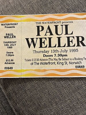 Paul Weller Concert Ticket Sub  • 7.50£