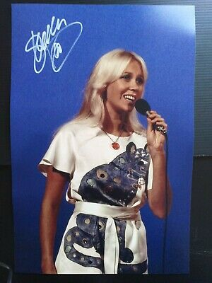 STUNNING AGNETHA FALTSKOG ABBA 12x8 Signed Photo With Coa Ready For Framing  • 85£