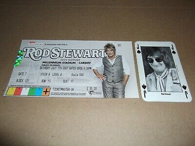 1992 Nme Playing Card - Rod Stewart - 17 July 2007 Concert Ticket Cardiff • 3.95£