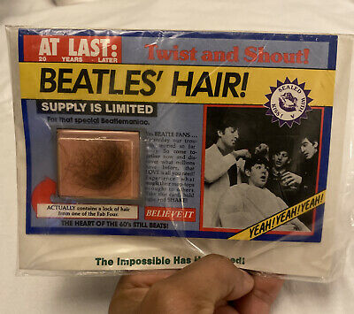 The Beatles Hair Sealed Rare  From After A Tour In 70's • 29,000£