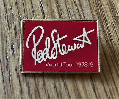 Rod Stewart World Tour 1978/79 Vintage Metal Pin Badge Insert Style • 12.99£