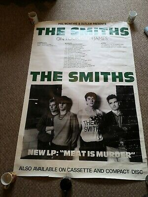ORIGINAL The Smiths Poster - Meat Is Murder Tour 1985 *RARE* • 300£