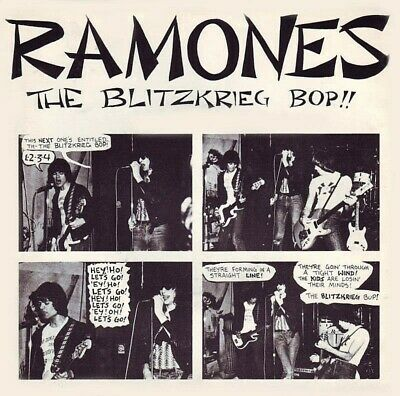 Ramones The Blitzkrieg Bop 7  45rpm Reproduction Picture Sleeve Only  • 4.60£