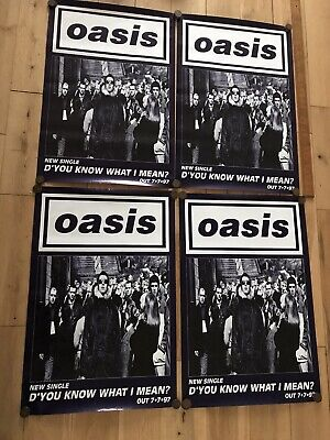 Original X 4 Oasis Promotional Poster - D'you Know What I Mean? • 0.99£