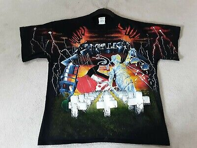 Metallica T Shirt Vintage Album Cover Collage  Worn Once In 1993 Wild Oats Xl • 299£