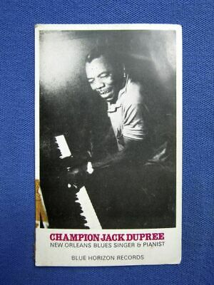 Autographed Blue Horizon Promo Card Of Champion Jack Dupree From A 1969 Live Gig • 40£