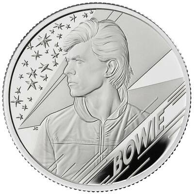 DAVID BOWIE 2020 UK Two Ounce Silver Proof Coin • 250£