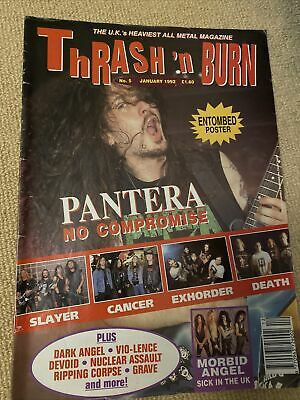 Thrash N Burn Mag Issue 5 January 1992 Pantera, Slayer, Cancer, Death • 11.50£