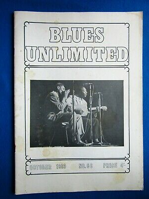 BLUES UNLIMITED : No.66 : October 1969 : B.B.King & Henry Townsend Part Threes • 10£