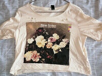 Women's New Order T-Shirt / XS / Top / Joy Division / Manchester Music / Oasis • 0.99£