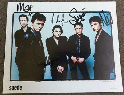 Suede Signed Photograph From The Official Fanclub, 1997 (mint Condition).  • 40£