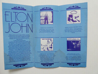 1974 Elton John Flyer For Caribou • 7.15£