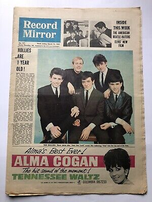 Record Mirror March 14th 1964 The Beatles,Hollies,Dave Clark,Elvis,Ex • 9.99£