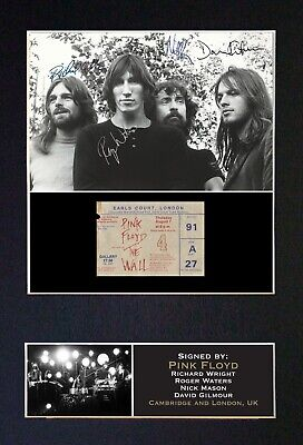 #193 PINK FLOYD No1 Reproduction Autograph Mounted Signed Photograph A4 • 19.99£