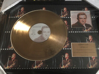 Johnny Cash 24 Carat ' Gold Coated LP Disc Exclusive Limited Edition No 29/1500 • 75£
