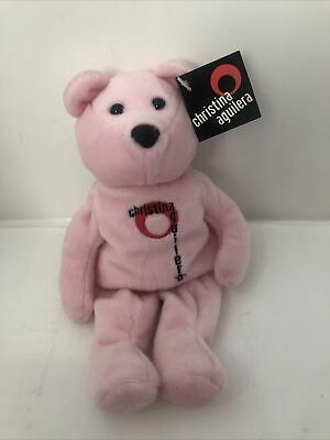 Beanie Baby Bear Plush Limited Edition Christina Aguilera Pink 9  Teddy A22F • 9.26£