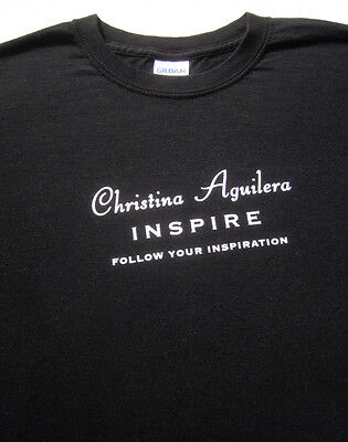 CHRISTINA AGUILERA Inspire MEDIUM Promo T-SHIRT Follow You Inspiration • 12.69£