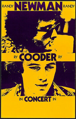 Randy Newman & Ry Cooder – Original 1974 Boxing-Style Concert Poster • 106.34£