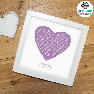 Eric Clapton 'Wonderful Tonight' Personalised Framed Lyrics Print Birthday Gift • 32.90£