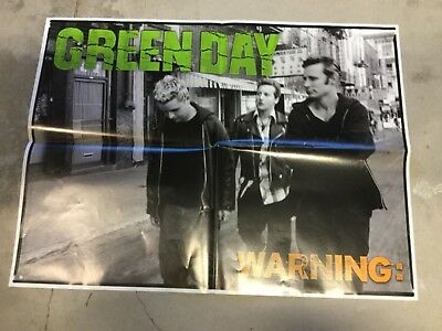 Green Day WARNING Original 2000 US 24 X18  PROMOTIONAL POSTER NEVER DISPLAYED • 13.28£