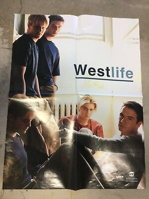 WESTLIFE MUSIC GROUP PROMOTIONAL POSTER GROUP SHOT RARE NEVER DISPLAYED 16x22 • 19.85£