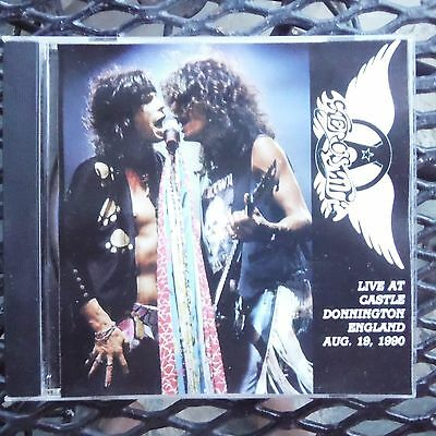 Aerosmith  Live At Donnington England  Aug 19,1990-pro Sourced Silver Disc-new!! • 16.19£