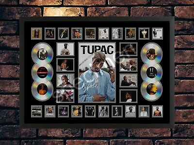 Tupac 2pac Signed Limited Edition Collage Autograph Memorabilia Print • 7.49£