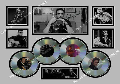 Johnny Cash A4 Autographed Male Songwriter Photo  Collage Print Memorabilia • 7.49£