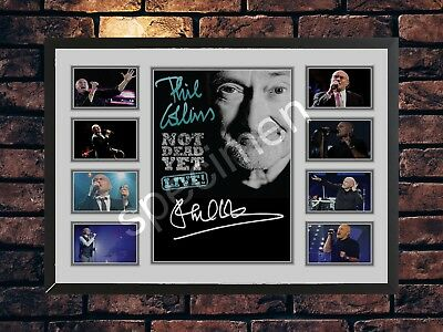 Phil Collins Signed Not Dead Yet Tour 2016 Limited Edition Memorabilia  A4 Print • 7.89£
