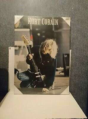 Kurt Cobain Nirvana Printed Poster Picture Photo Canvas RARE Collectable SEALED • 230£