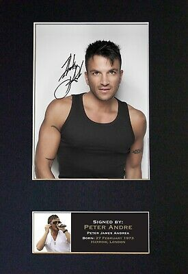 PETER ANDRE #165 Signed MOUNTED Photo...BIG A4 Size !  • 5.95£