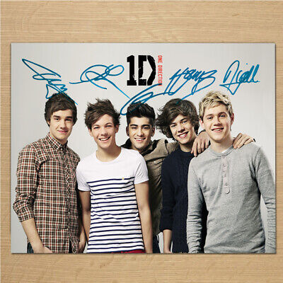 ONE DIRECTION Signed Photo....LOOK...BIG...8  X 6  A5 • 2.99£