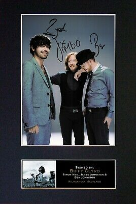 BIFFY CLYRO Signed MOUNTED Photo... A4 Size !  • 5.95£