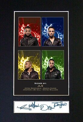 JLS Leather Jackets Signed MOUNTED Photo... A4 Size ! #200 • 5.95£