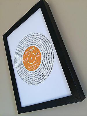Paul Weller YOU DO SOMETHING TO ME PERSONALISED SONG LYRICS PRINT Gift Wedding • 11.95£