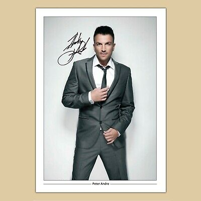 PETER ANDRE #10 Signed Photo... BIG ...A4 Size ! ! • 3.95£