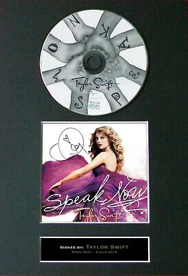 TAYLOR SWIFT Signed MOUNTED CD And COVER... A4 Size !  • 7.49£