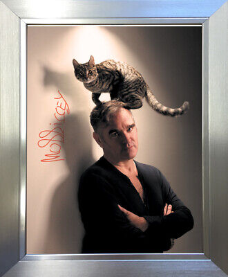 MORRISSEY Signed Photo SILVER FRAME... NEW ...A5 Size ! ! • 12.99£