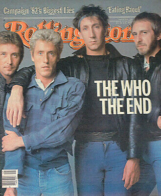 Rolling Stone Magazine 11 Nov 1982 . The Who Front Cover • 12.99£