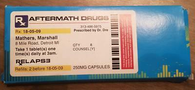 VERY VERY Rare Eminem Dr Dre Aftermath Relapse UK Promo Drugs Packet. Mints • 250£