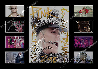 Pink 2018 Beautiful Trauma World Tour A4 Signed Memorabilia  Limited Edition  • 7.89£