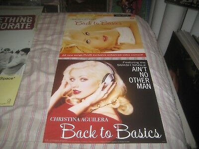 Christina Aguilera-back To Basics-1 Poster Flat-2 Sided-12x12 Inches-nmint-rare! • 9.93£