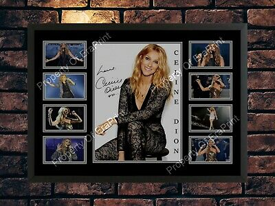 Celine Dion Signed Black & White  A4 Photo Print  Autographed Memorabilia • 7.89£