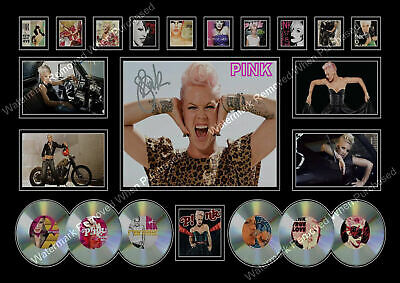 Pink Signed Limited Edition Memorabilia  A4 Photo Print • 7.89£